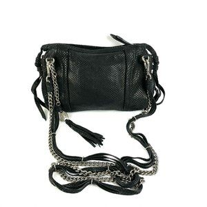 Olivia Harris Black Crossbody Bag Chain Strap Text